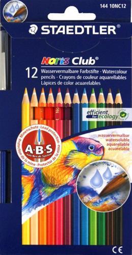 עפרון צבעוני אקוורל 12 יח