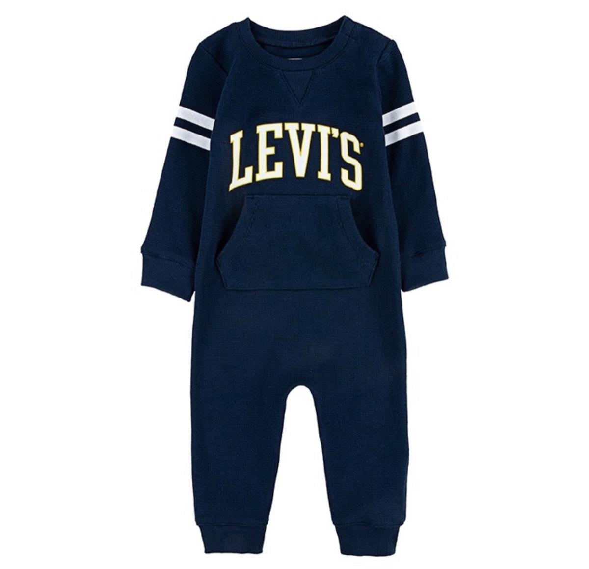 LEVIS אוברול כחול תינוקות מידות NB-9M