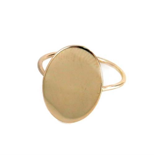 טבעת חותם בזהב 14 קרט