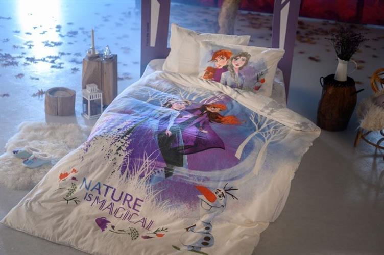 סט מלא מיטה וחצי אלזה ואנה פלנל של ורדינון