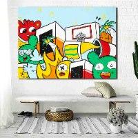 ציור פופ ארט צבעוני גדול למשרד של האמן כפיר תג'ר