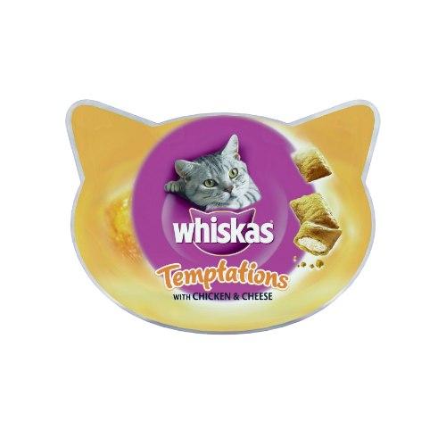 ויסקס טמפטיישן חטיף לחתולים עם עוף 60 גרם - WISKAS TEMPTATIONS CHICKEN 60G