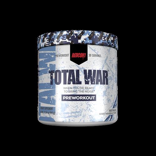TOTAL WAR - PRE WORKOUT|קדם אימון עוצמתי 30 מנות הגשה 440 גרם| אשכולית אדומה