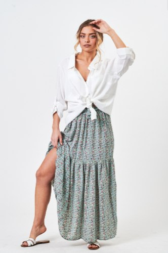 חצאית אשלי פרחונית