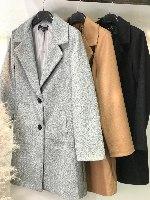 מעיל צמר גריי בייסיק