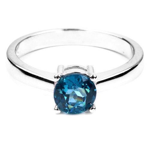 טבעת מכסף משובצת אבן טופז כחולה RG5720 | תכשיטי כסף 925 | טבעות כסף