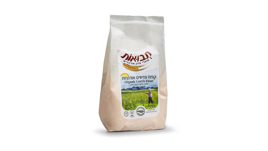 קמח עדשים אורגניות 500 גרם