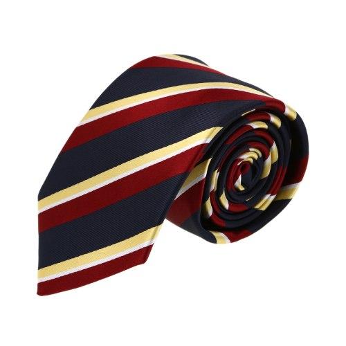 עניבה פסים אדום- צהוב
