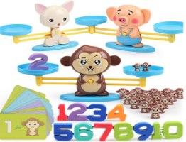 משחק לוח מתמטי איזון חיות