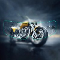 קסדת אופנוע -מגן אדים וגשם