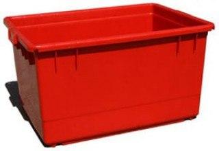מיכל 130 ליטר אדום