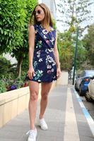 אוברול שמלה פרחוני מלודי