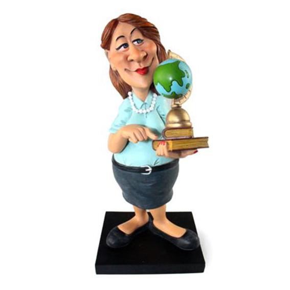 """מתנה למורה פסל  """" המורה """" F"""