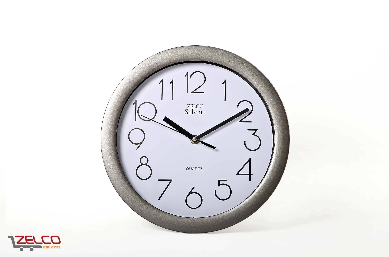 שעון קיר עגול כסוף