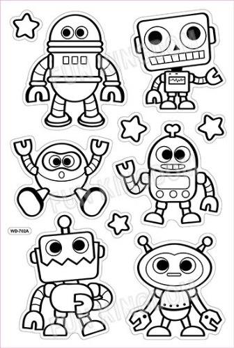 מדבקות חלון - רובוטים (702 A+B)
