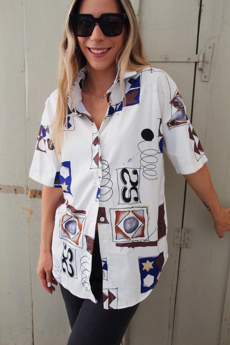 חולצת ולרי גיאומטרית