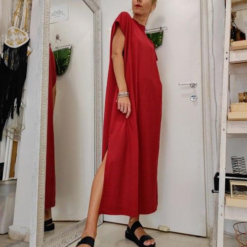 שמלת NAM - אדום בריק