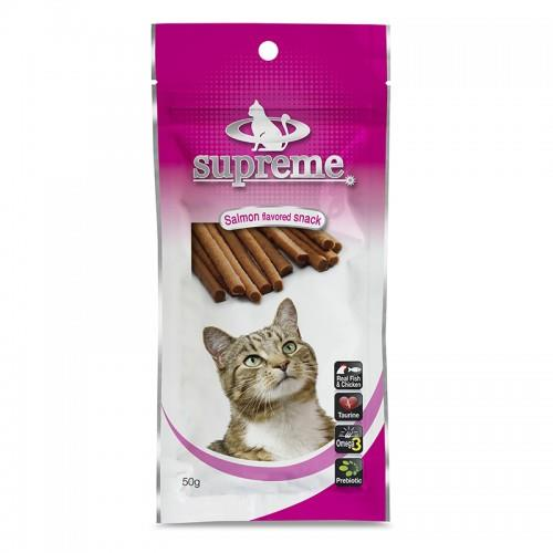 חטיף סופרים לחתול סלמון 50 גרם