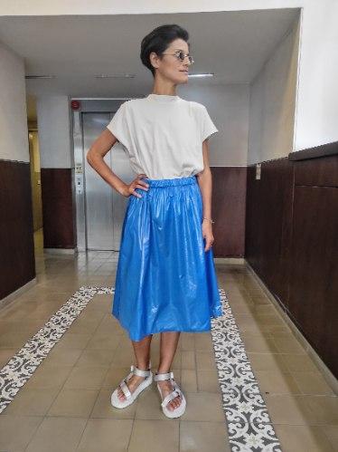 חצאית נילון יפני - ROYAL