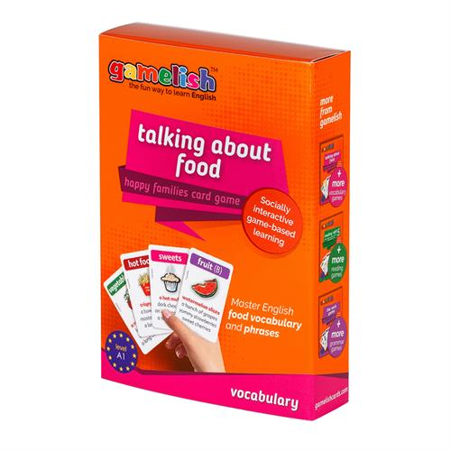משחק רביעיות באנגלית gamelish | מדברים על אוכל  talking about food