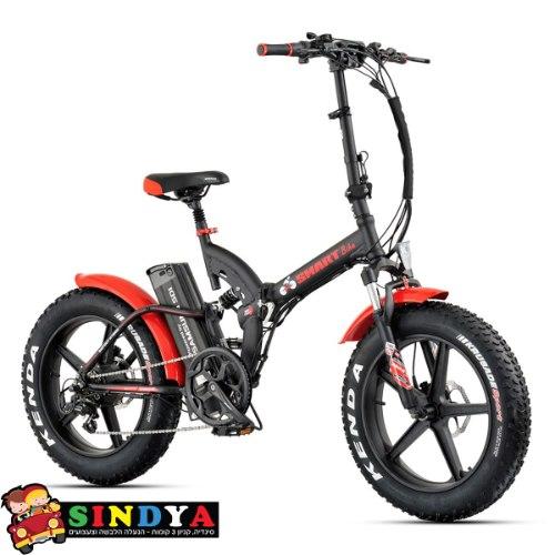 אופניים חשמליים ביג פוט 48V/14AH עם שיכוך מלא Smart Bike Big Foot Hybrid