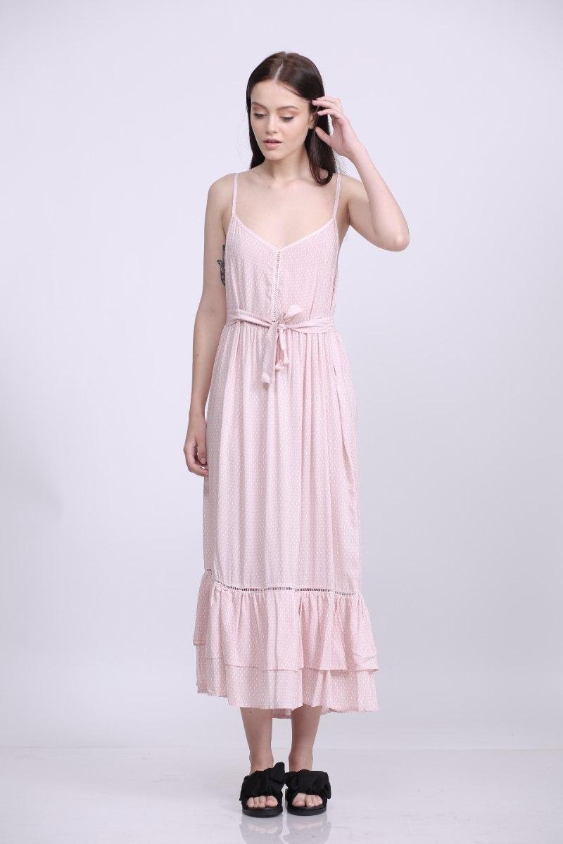 שמלת דולי ורודה עם מעויינים