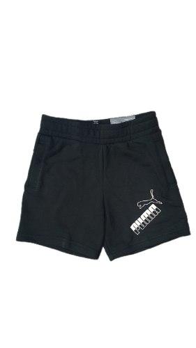 שורט PUMA שחור לוגו גדול (4-16)