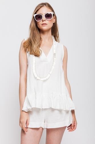 מכנסיים קומפורט לבן