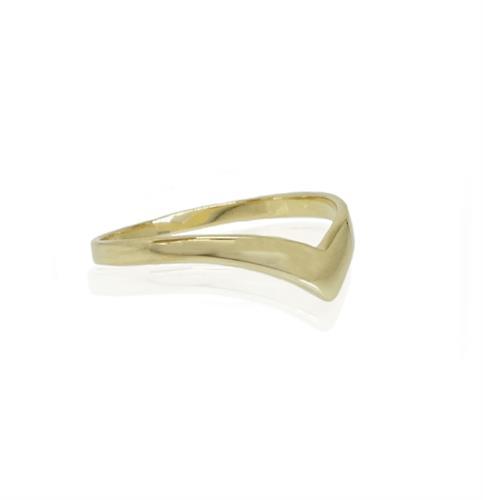טבעת וי זהב
