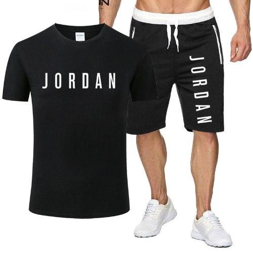 סט חולצת טריקו ומכנסי ספורט קצרים 100% כותנה מותג ג'ורדן