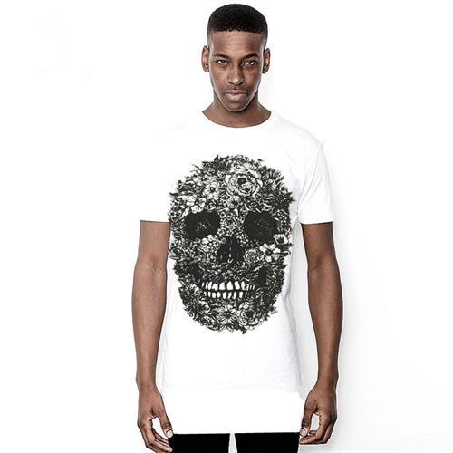 חולצת היפ הופ אופנתית ארוכה שרוול קצר עם הדפס