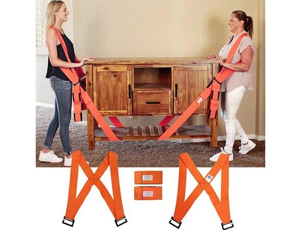זוג רצועות חזקות להרמה קלה של רהיטים כבדים