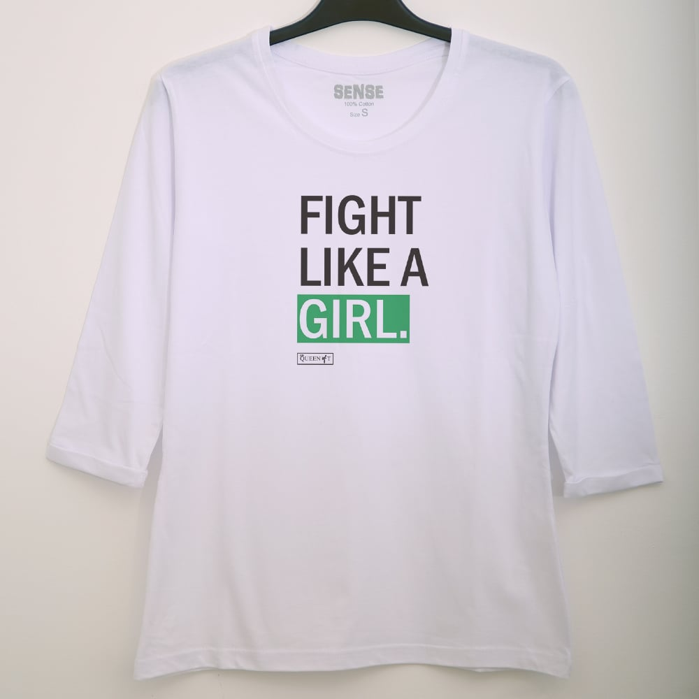 FIGHT LIKE A GIRL שרוול 3/4