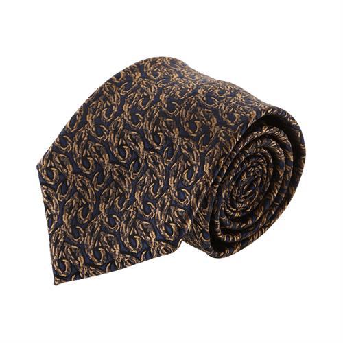 עניבה קלאסית זהב משולב