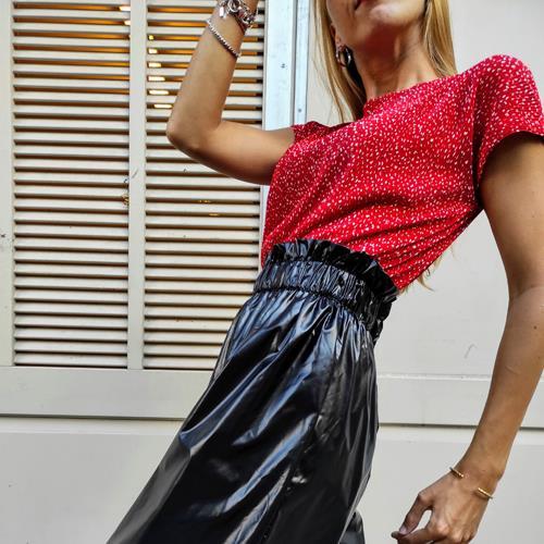 מכנסיים קצרים - נילון יפני שחור