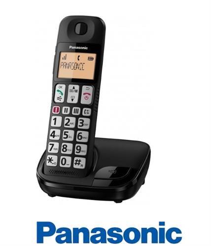 Panasonic טלפון אלחוטי עם מקשים גדולים ושמע מוגבר דגם KX-TGE110