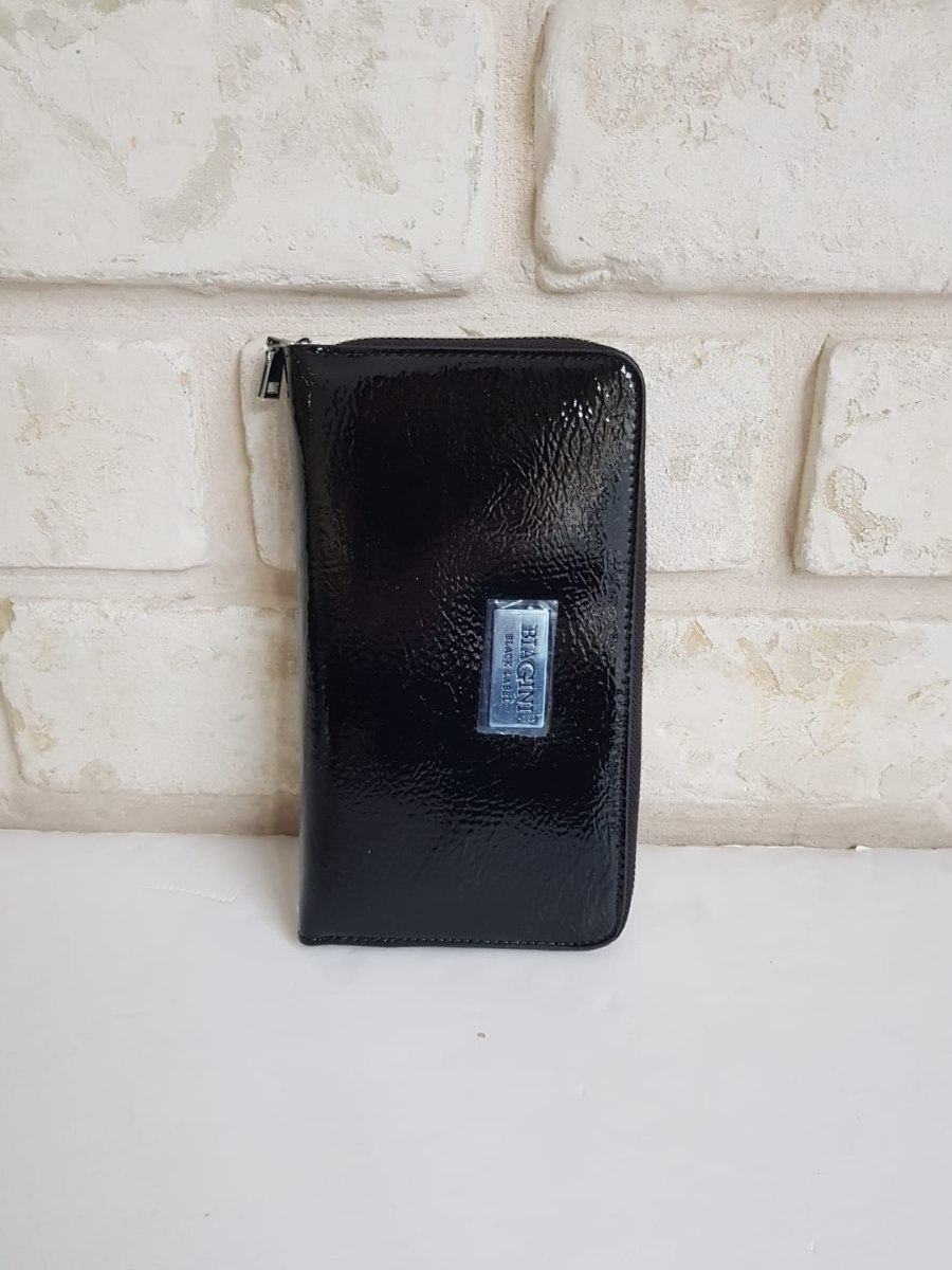 ארנק דמוי עור גדול שחור לקה 4044