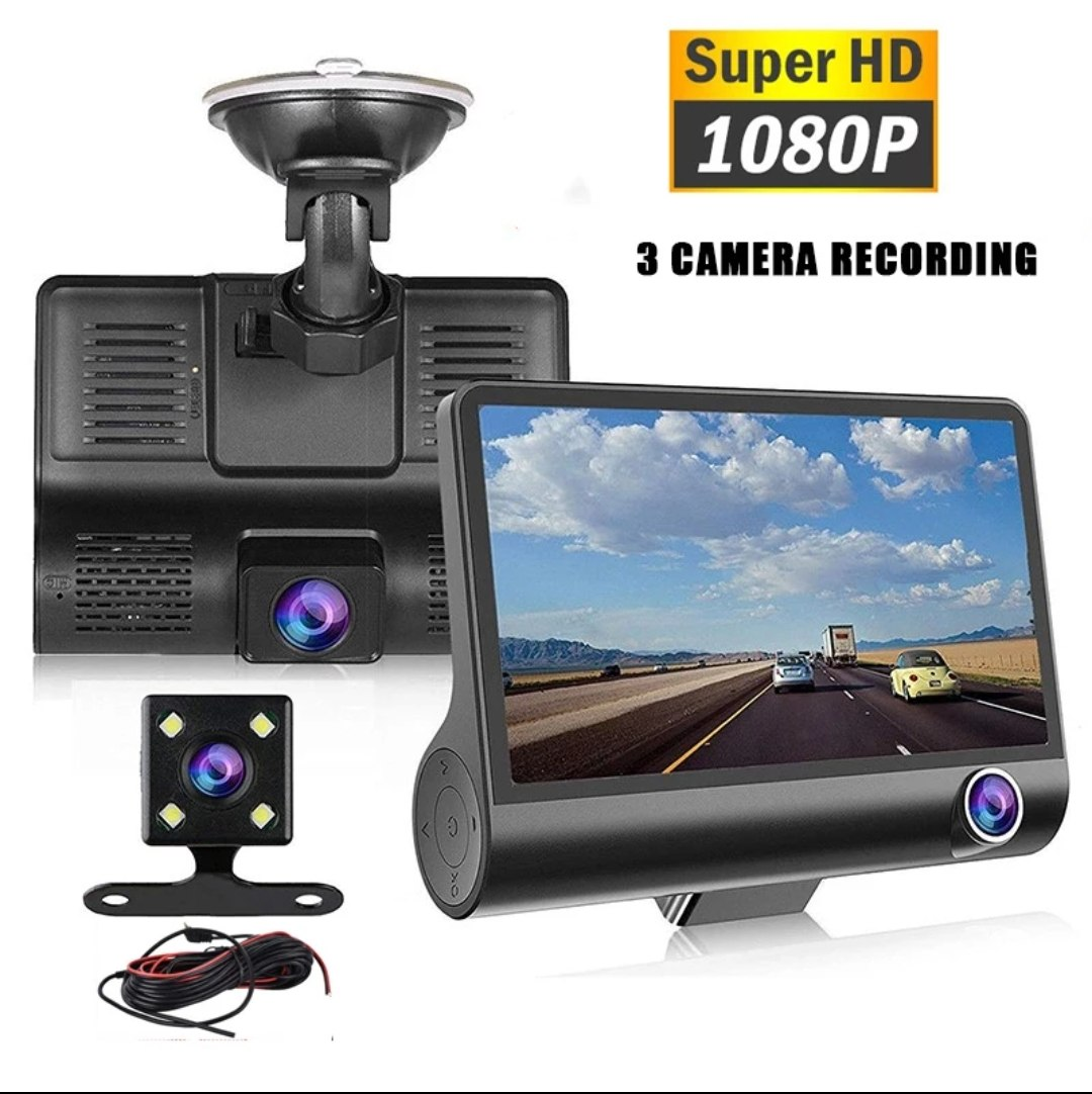 מצלמת רכב 3 ב 1 FULL HD
