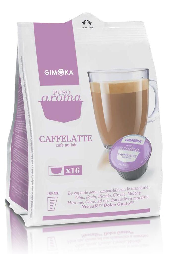 16 קפסולות איטלקיות תואמות דולצה גוסטו Gimoka Espresso Caffelatte Dolce Gusto