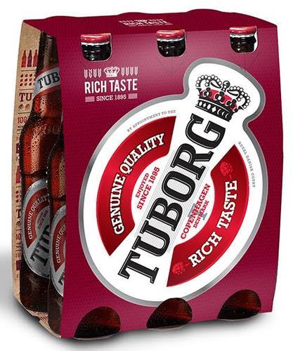 שישיית בירה טובורג אדום 330 מ״ל
