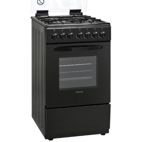 תנור אפיה צר לקאזה משולב כיריים גז LACASA LCV50B צבע שחור