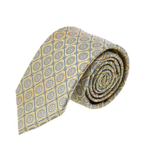 עניבה פרחים משולב כחול צהוב