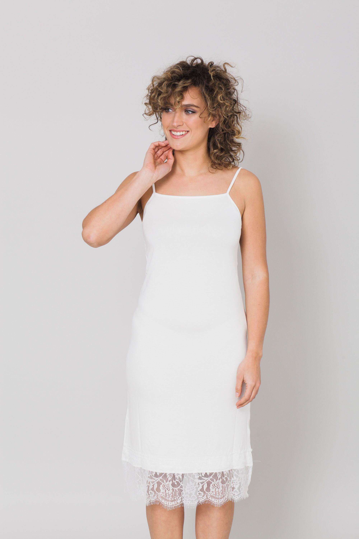 שמלת בסיס שמנת