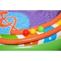 בריכת פעילות מתנפחת Bestway - גשר המוזיקה הכוללת משחקי כדור, מגלשה ומתז מים