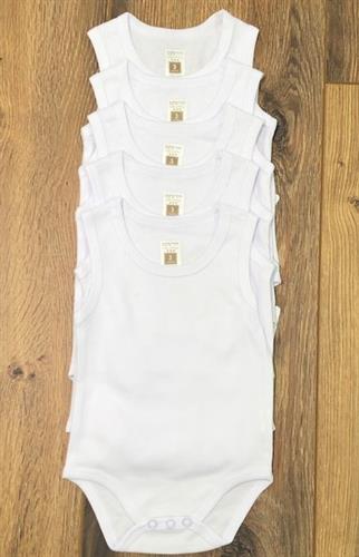 סט חמישיית בגדי גוף גופיה לבן