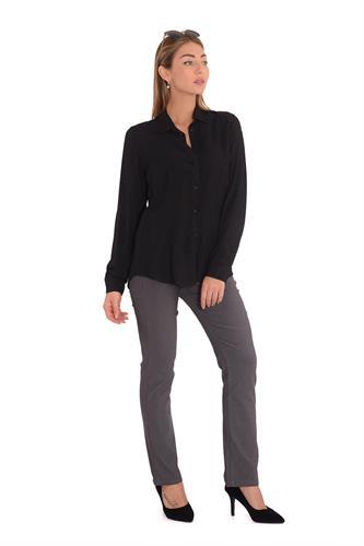 מכנס בצבע אפור לורקס בגזרה ישרה