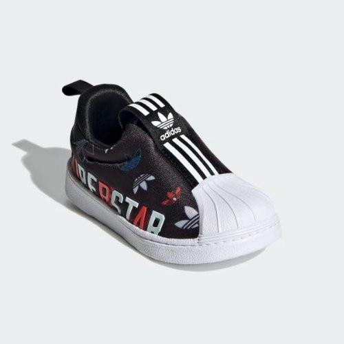 נעלי ספורט ADIDAS SUPERSTAR הדפס שחור 20-27