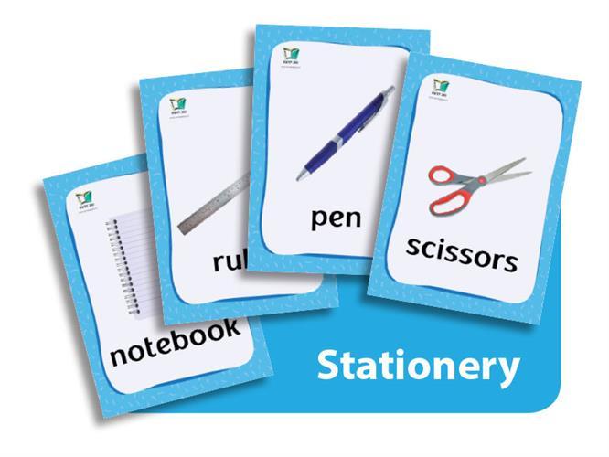 קטגוריה – מכשירי כתיבה (כרטיסי הברקה) | Stationery Flashcards