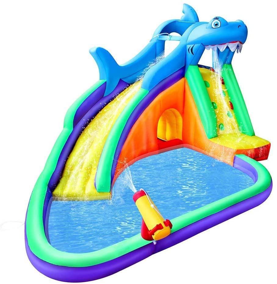 מתקן קפיצה מתנפח רטוב עם מים חיית מים - W4532 מבית Jumpy Jump העולמית-קפיץ קפוץ