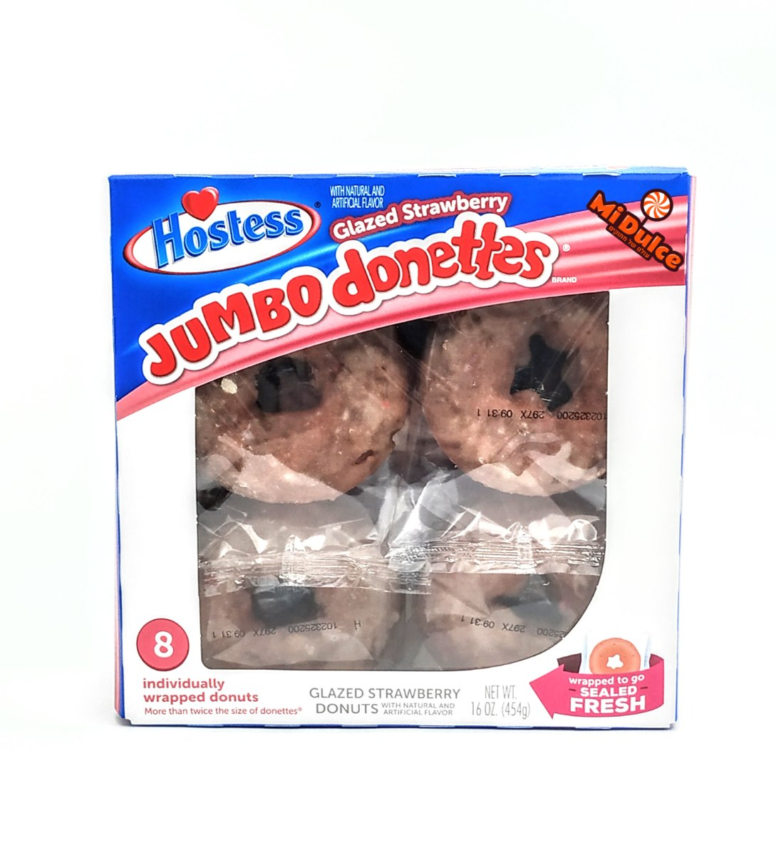 Hostess ג'מבו דונאטס תות